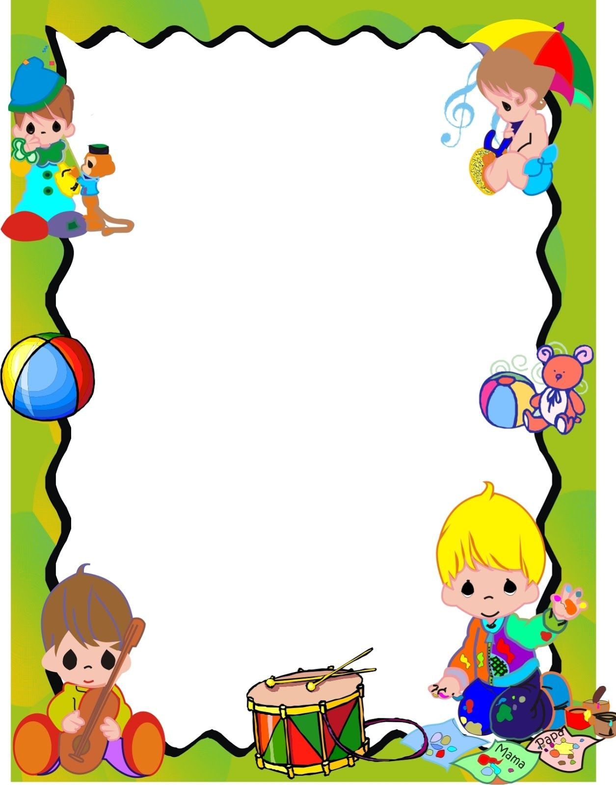 Borders for kid dise o grafico cocinar o no cocinar - Ideas para cocinar ...