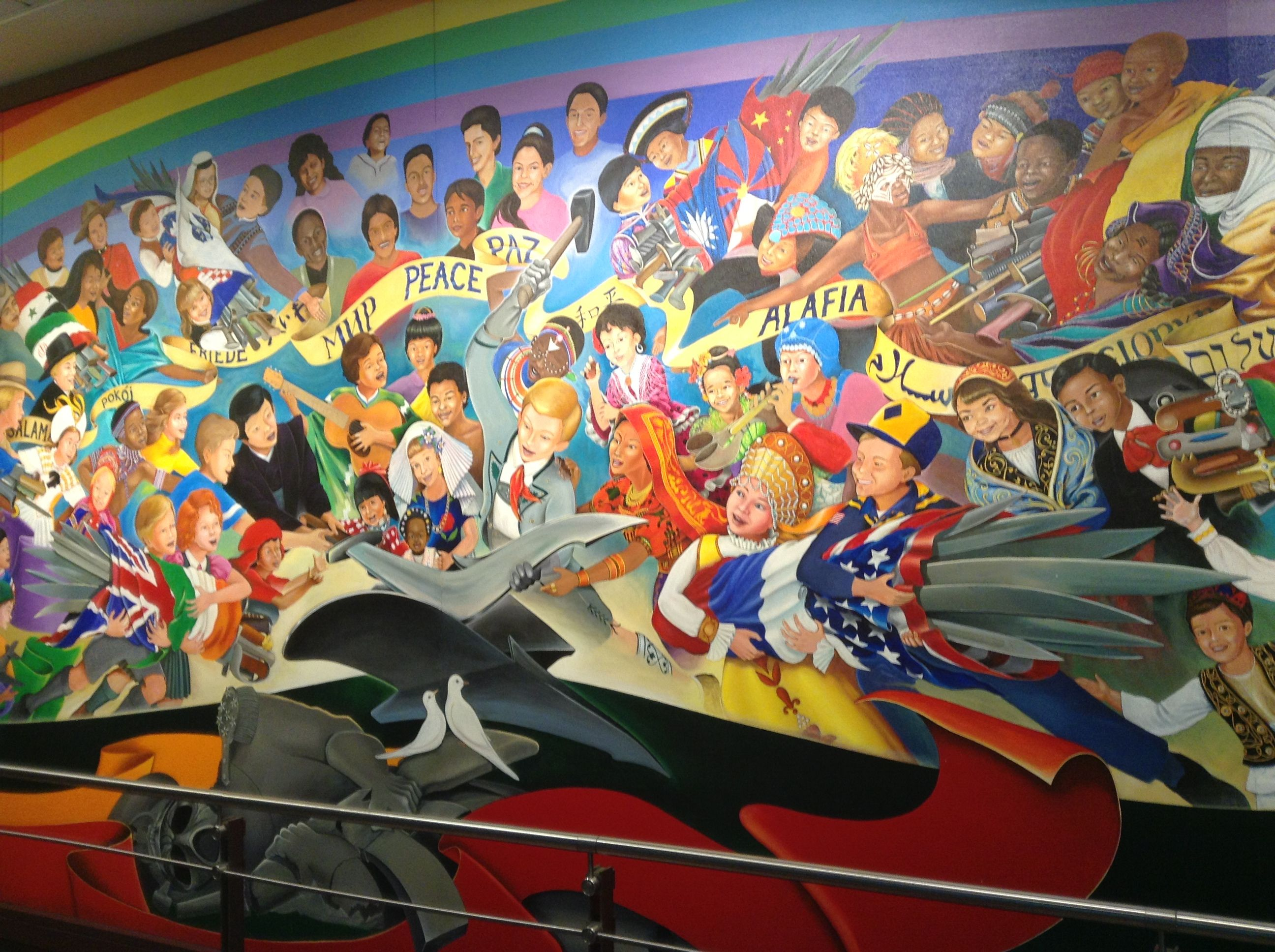 Denver Airport Wall Murals Ever Seen This Interesting Mural In The Denver Airport