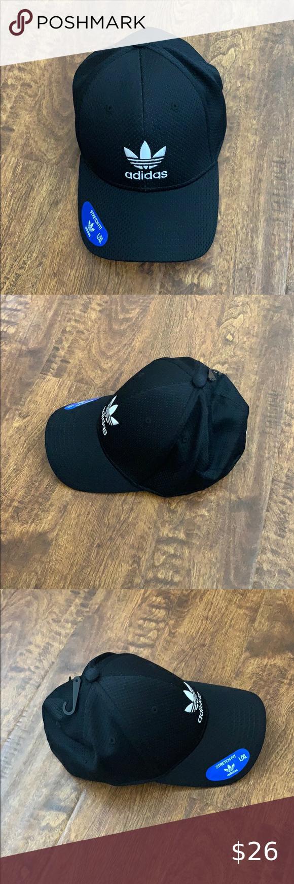 Adidas Men S Original Zig Stretch Fit Cap Sz L Xl Adidas Men Fitted Caps Black Adidas