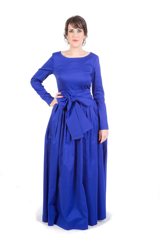 Blue wedding dress long dress maxi dress navy blue