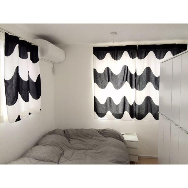 マリメッコのカーテン/無印ベッド…などのインテリア実例 - 2015-05-08 22:48:33
