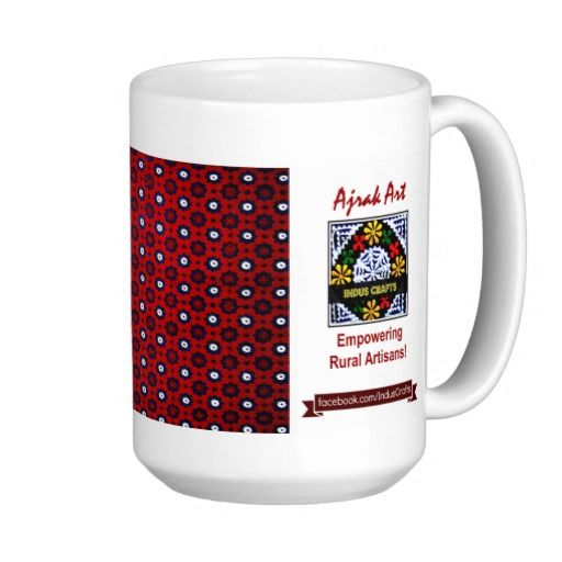 Ajrak Art Mugs: click on the link to buy this amazing piece of Art and show your love for tradition. Proceeds will be contributed to #IndusCrafts to help marginalized rural women artisans.