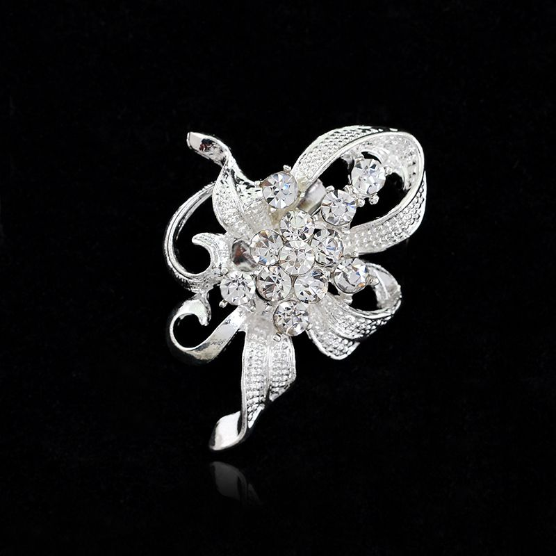 Good 1 PCS Sweet Gift Bridal Party Wedding Rhinestone Crystal Bouquet Brooch Pin  Flower Broche Brooch Bouquet