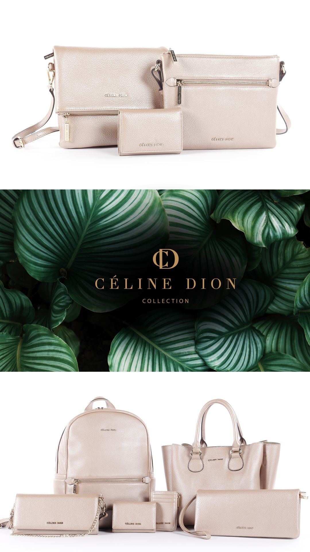 61a8e5e3ce2d ADAGIO COLLECTION l Céline Dion Collection l Satchel with tripple entry  opening Middle metal zipped pocket
