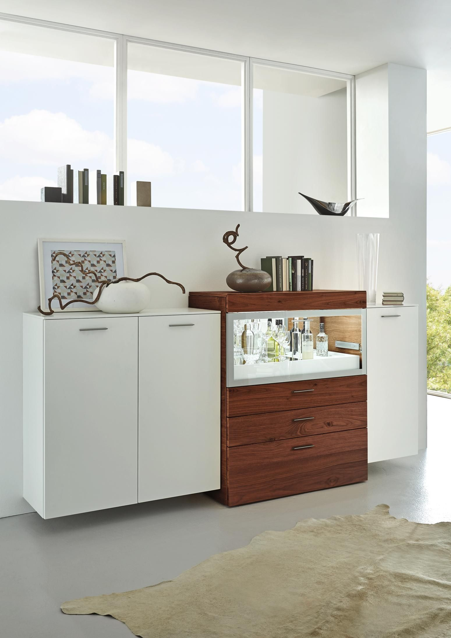 Sideboard Von Ambiente By Hulsta Mit Furnier Aus Balkeneiche Home Room Divider Home Decor