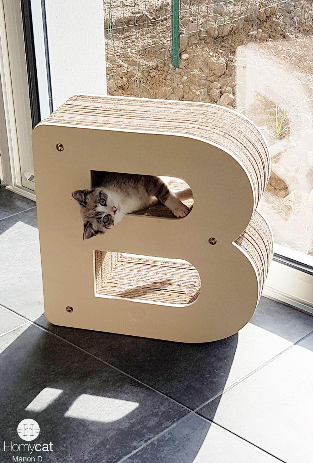 Griffoir Chat Carton Design lettre griffoir b | mobilier pour chat, griffoir chat, griffoir