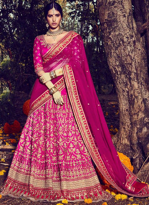 Exquisite Rani Pink Bridal Lehenga Choli | Lehenga Choli | Pinterest