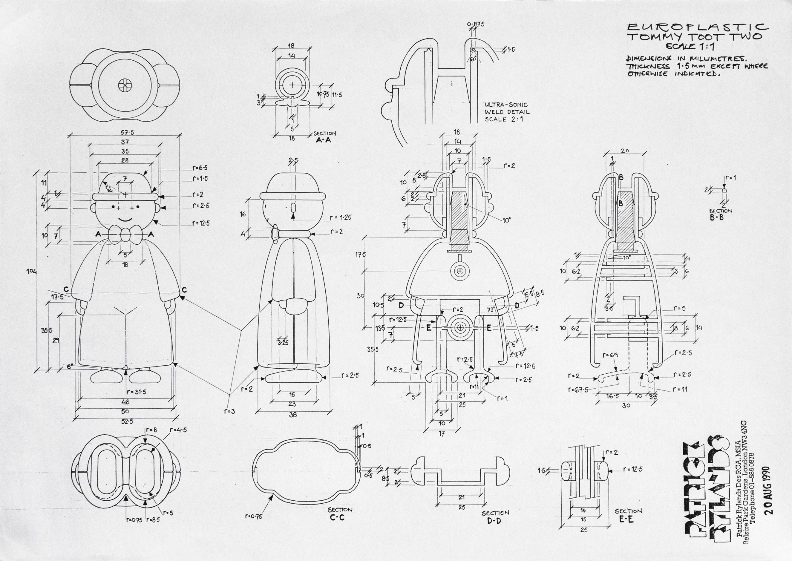 patrick rylands technical drawing vintage design toys pinterest