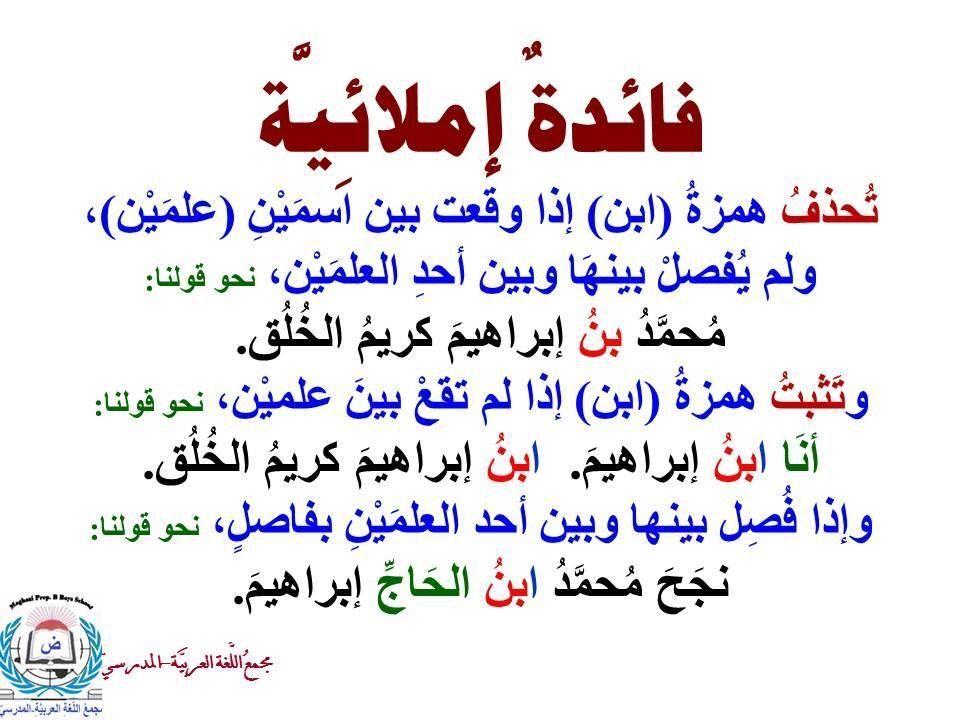 Pin By Abdulrahman Alghamdi On قواعد اللغة Learning Arabic Learn Arabic Language Arabic Language