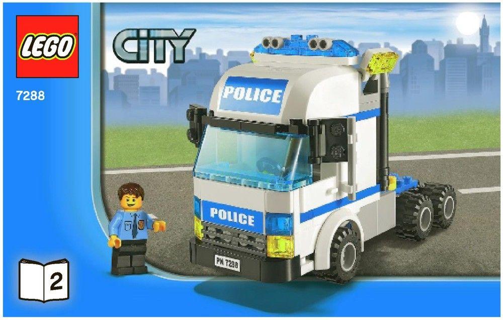 City Mobile Police Unit Lego 7288 Lego Instructions