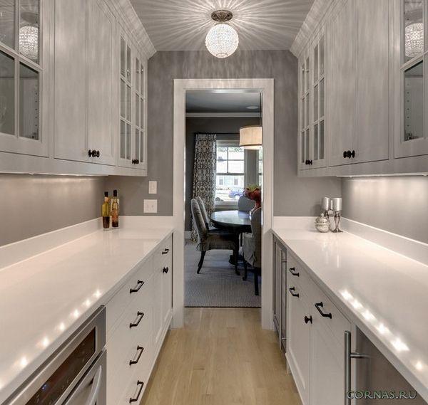 Кухня в коридоре - плюсы и минусы. Фото проектов ...