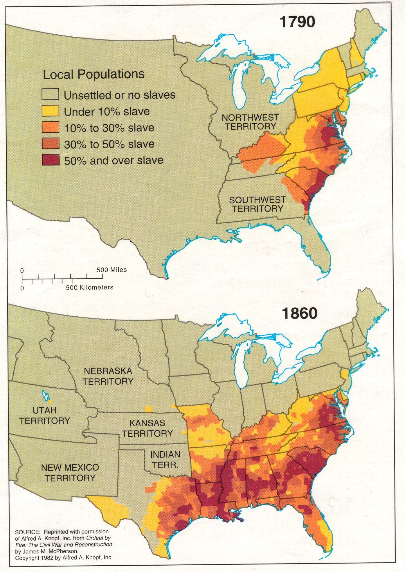 Maps That Explain America Civil Wars American Civil War And - Us population density map 1790