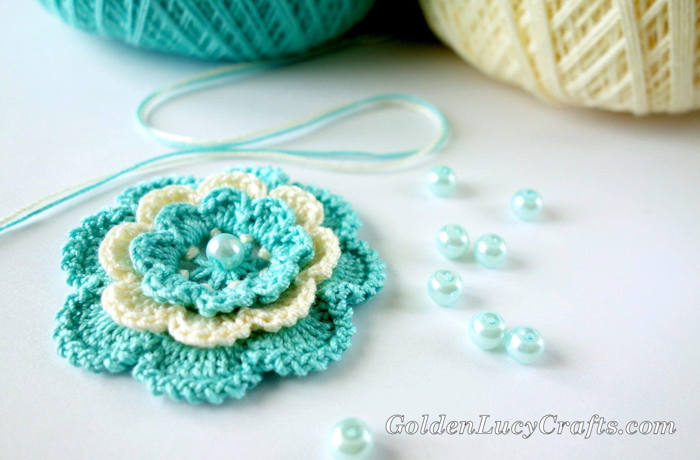 Crochet Irish Rose - Step by Step Instructions | Crochet | Pinterest ...