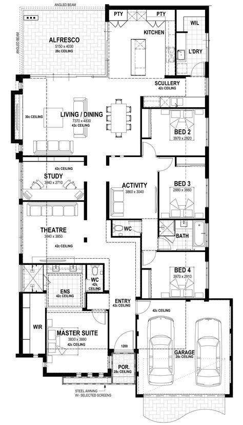 Semara Lot 94 Egerton Drive Floorplan Dream House Plans Home Design Floor Plans New House Plans