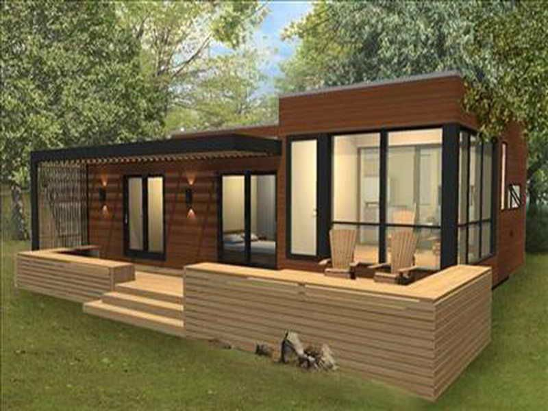 Small modular home decorative design off grid modular for Contemporary model homes