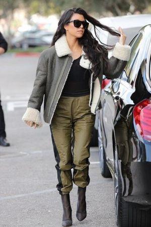 12d20c3e3d80d Kourtney Kardashian wearing Yeezy Mesh Ankle Boots