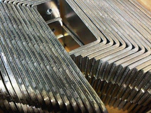 3mm thick mild steel angle brackets after zinc plating and