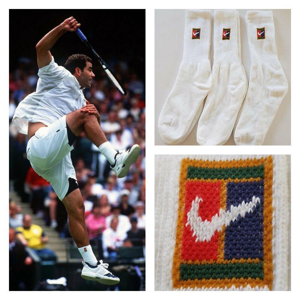 Vtg 90 S Nike Supreme Court Tennis Crew Socks 1 Pair Sampras Agassi Men Uk 7 11 Nike Crewsocks Casual In 2020 Vintage Sportswear Crew Socks Sportswear
