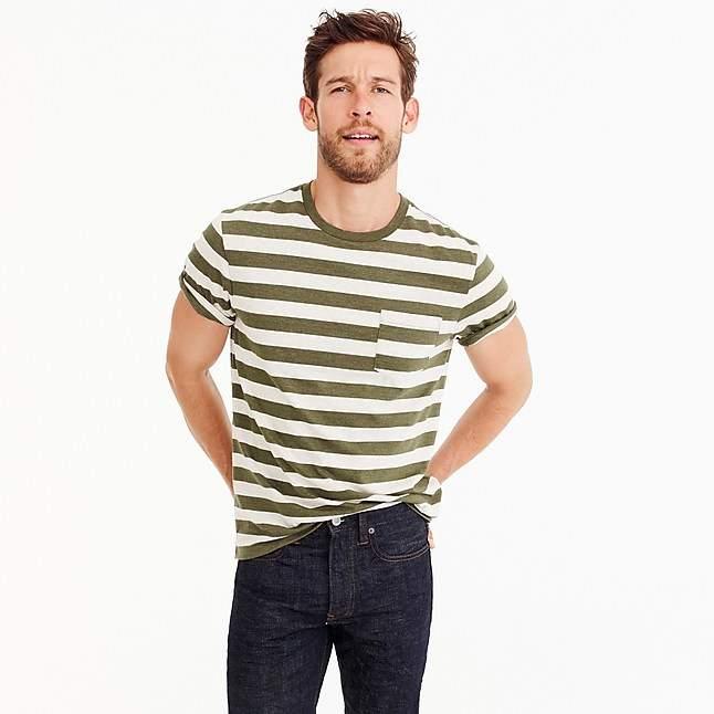 44752e0d6f560 J.Crew Tall Mercantile Broken-in T-shirt in Bedford stripe ...