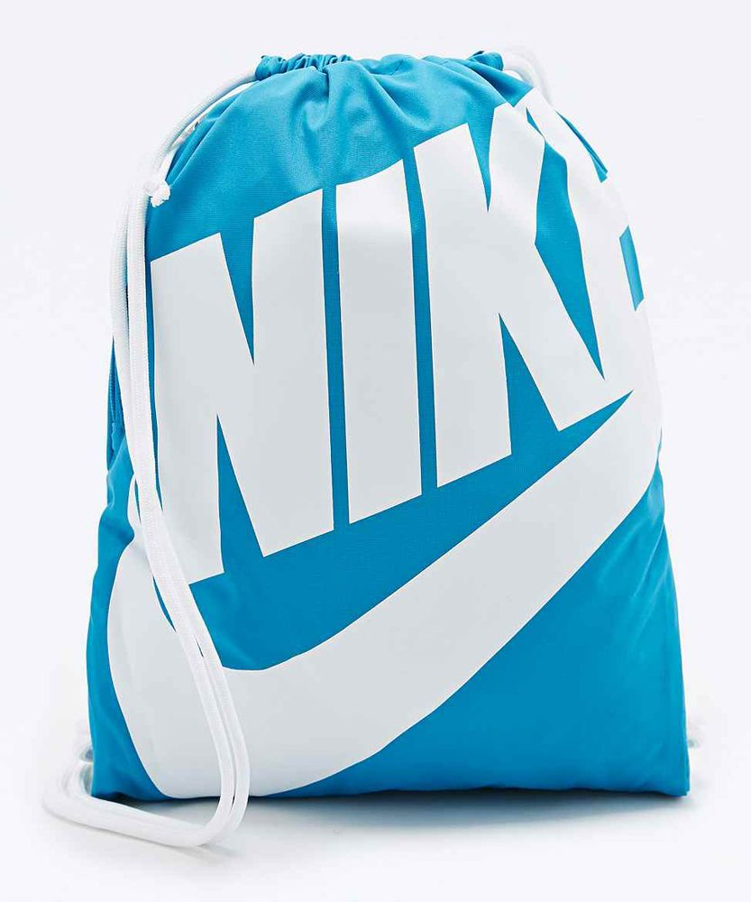 blue nike drawstring bag