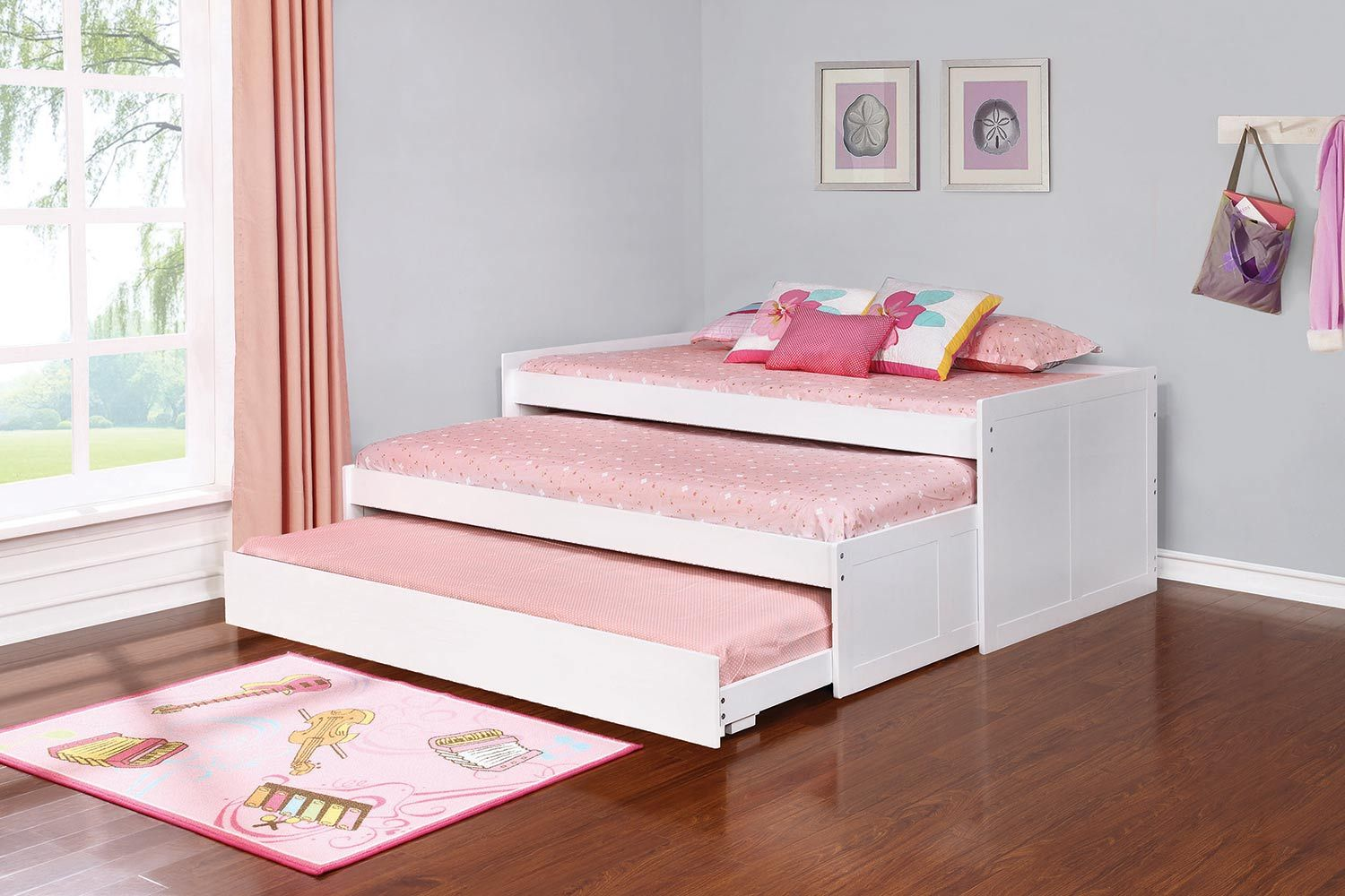 Coaster Aaron Triple Daybed With Trundle White With Images