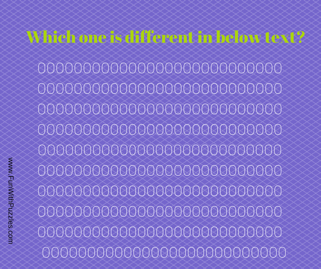 Brain Teaser to find 0 in given pattern of Os Brain
