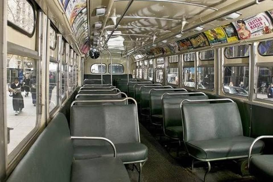 Pin By Hank On My Jersey City With Images Bus Interior Retro Bus