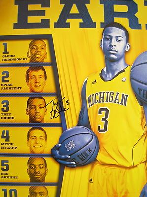 2012 13 University Of Michigan Basketball Schedule Poster