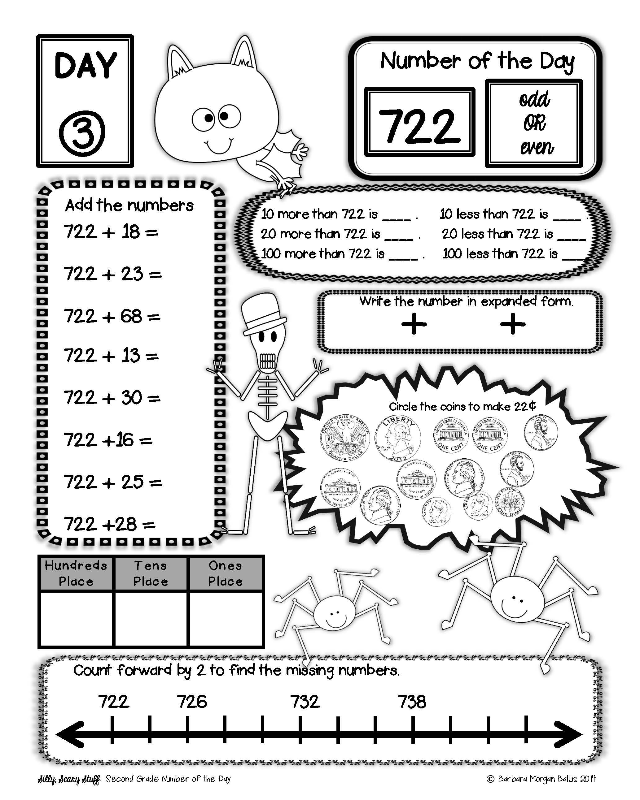 Place Value Morning Work Number Sense Second Bundle Number Of The Day