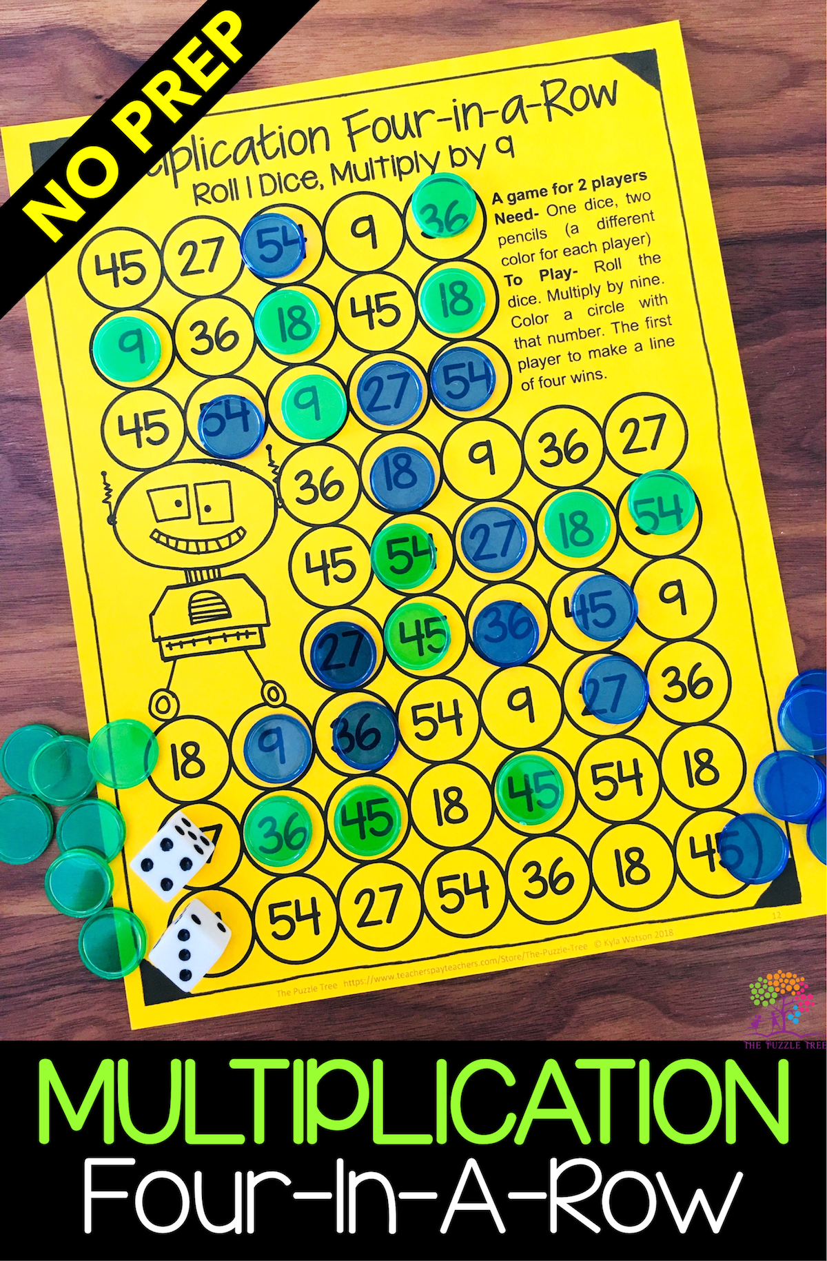 Multiplication Games Printable FourinaRow Math Games