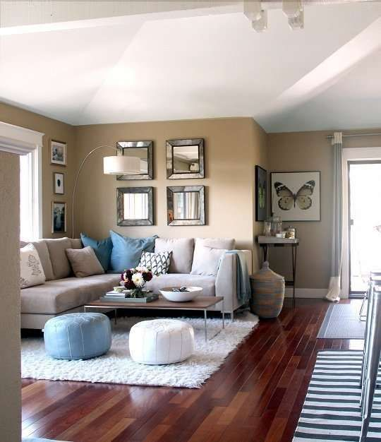 Arredare il soggiorno con il color tortora | Divano color ...