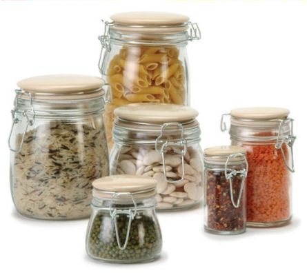 glass kitchen storage jar