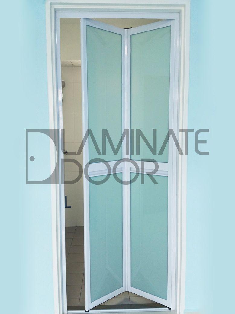 Aluminum Pvc Bi Fold Door Install For Hdb Bto Toilet Visit Our Website For More Details Www Laminatedoor Com Sg Bifold Doors Door Installation Doors