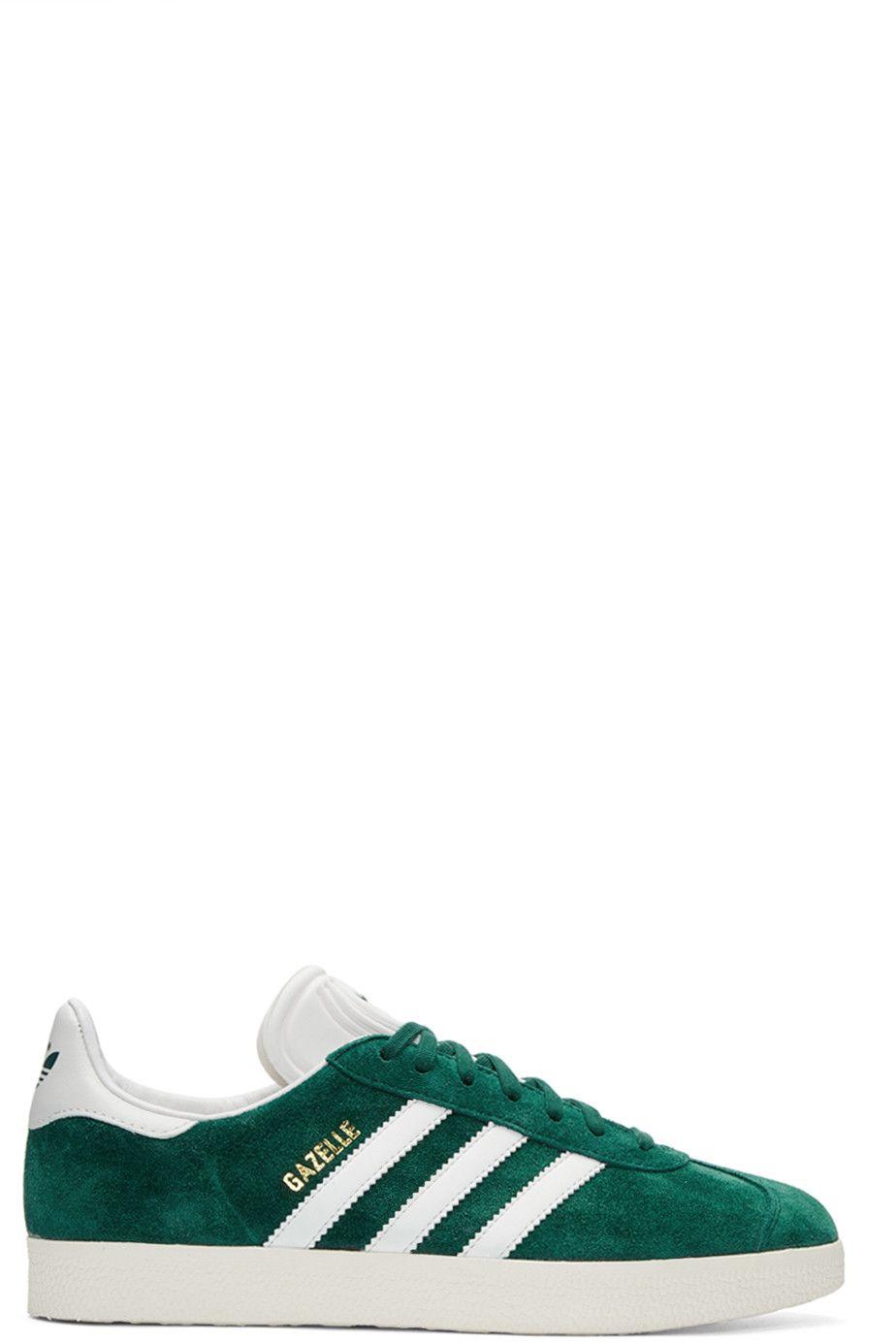 best sneakers 2d071 f5eca ADIDAS ORIGINALS Green Suede Gazelle Og Sneakers.  adidasoriginals  shoes   sneakers