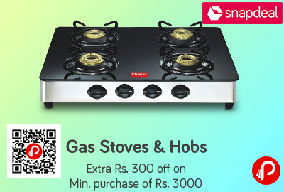 Gas Stove And Hobs Rs 300 Off On A Minimum Purchase Of Rs