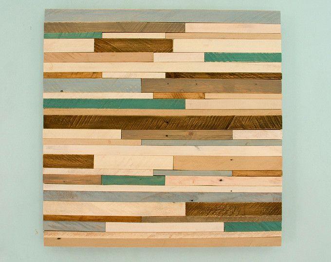 Mosaic Wood Art, wood wall art, geometric art, large art painting on ...