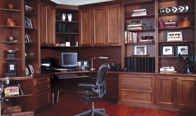 offices in houses custom wood home office custom home offices - Custom Home Office Designs