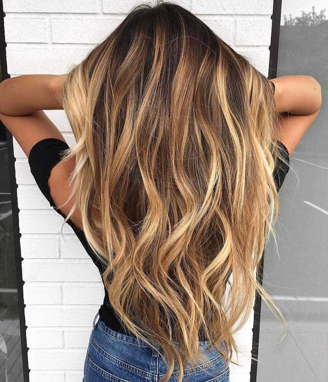 Love the hair color and the style for long hair nail care