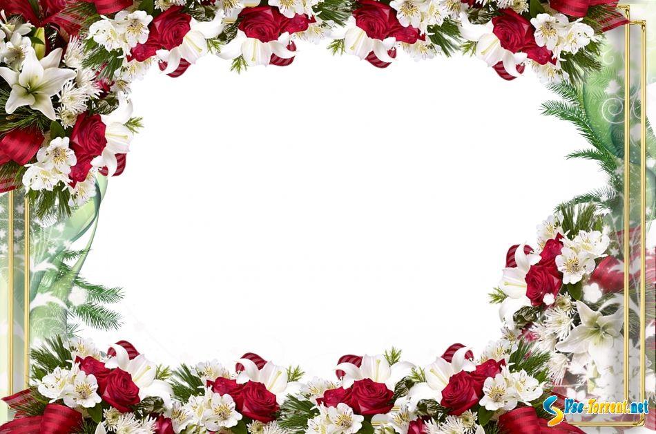 Открытки с цветами рамки