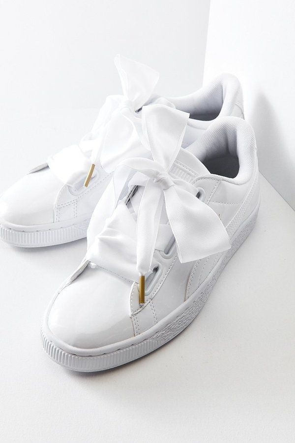 Puma Basket Heart Patent Leather Sneaker  puma  bows  sneakers  white 3fa6269c1