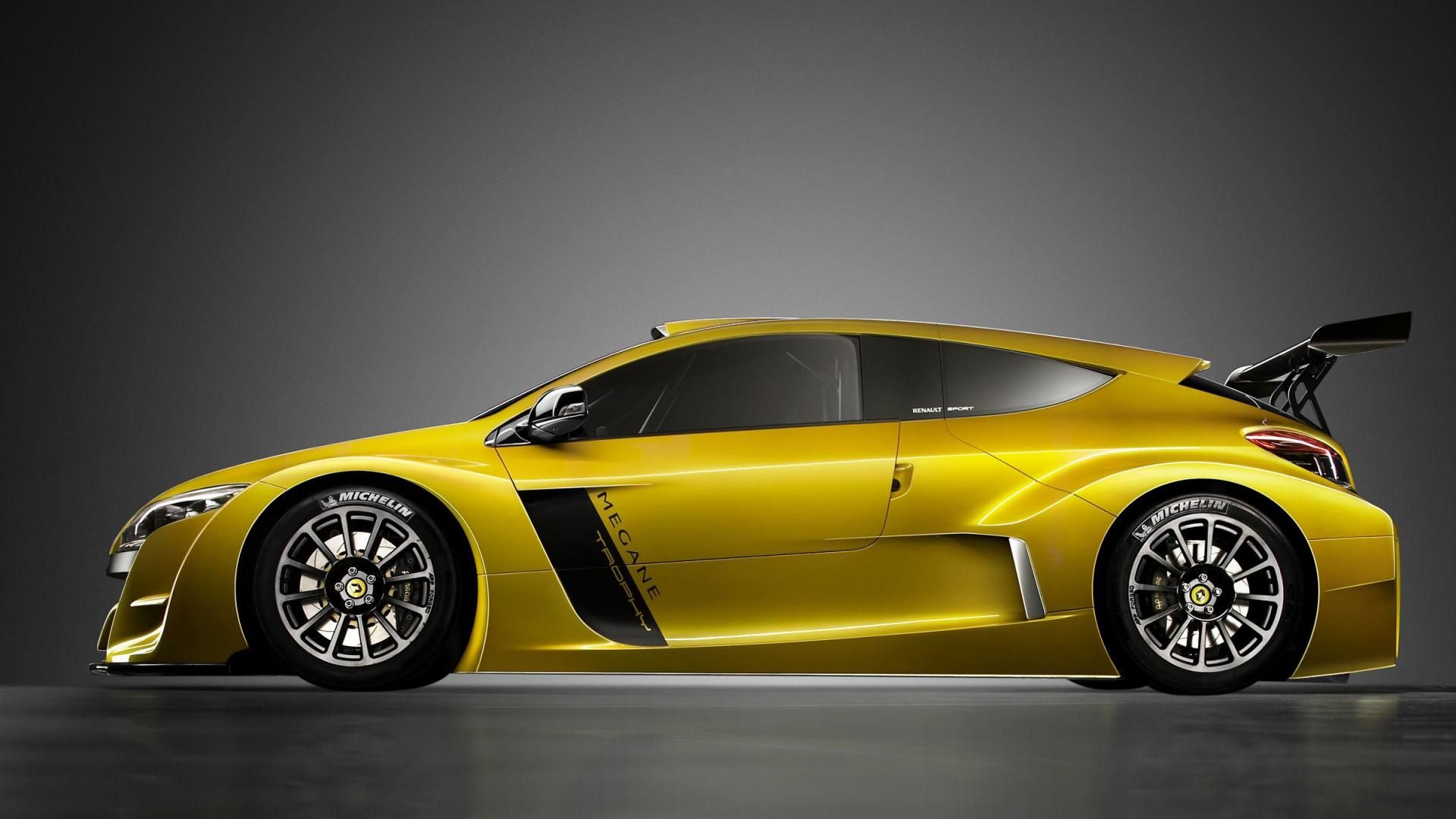 Awesome Yellow Sports Car