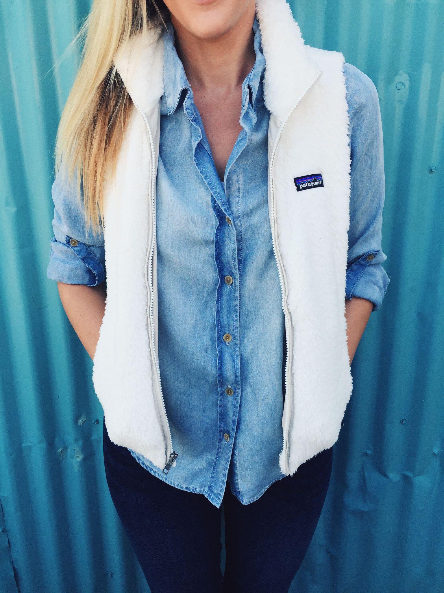 dffc0e7b Patagonia Women's Los Gatos Vest- White | Clothes | Fashion, Outfits ...