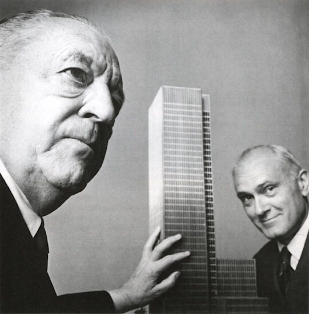 Seagram Building Mies van der Rohe Philip Johnson New York USA 1955 office architecture