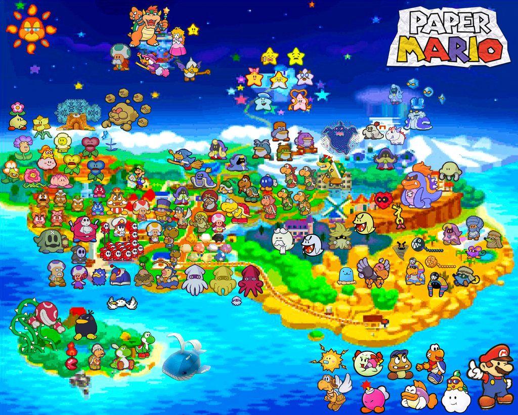Paper Mario Map by SilverBullerdeviantartcom on DeviantArt
