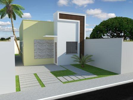 fachadas-de-casas-modernas-telhado-embutido FACHADAS DE SOBRADOS ...