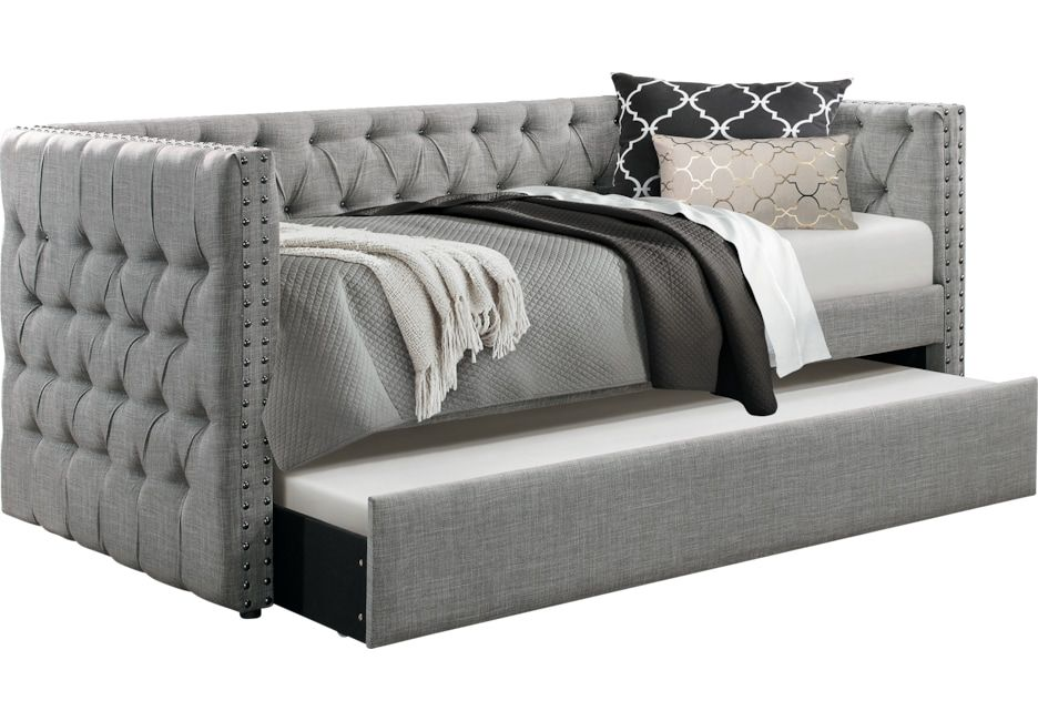 Oddette Gray Daybed With Trundle In 2019 Day Bed Daybed