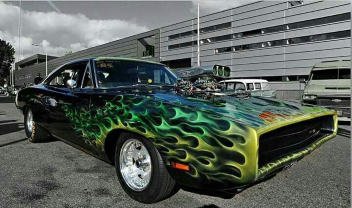 A Flaming 70 Dodge Charger Dodge Muscle Cars Dodge Charger Muscle Cars