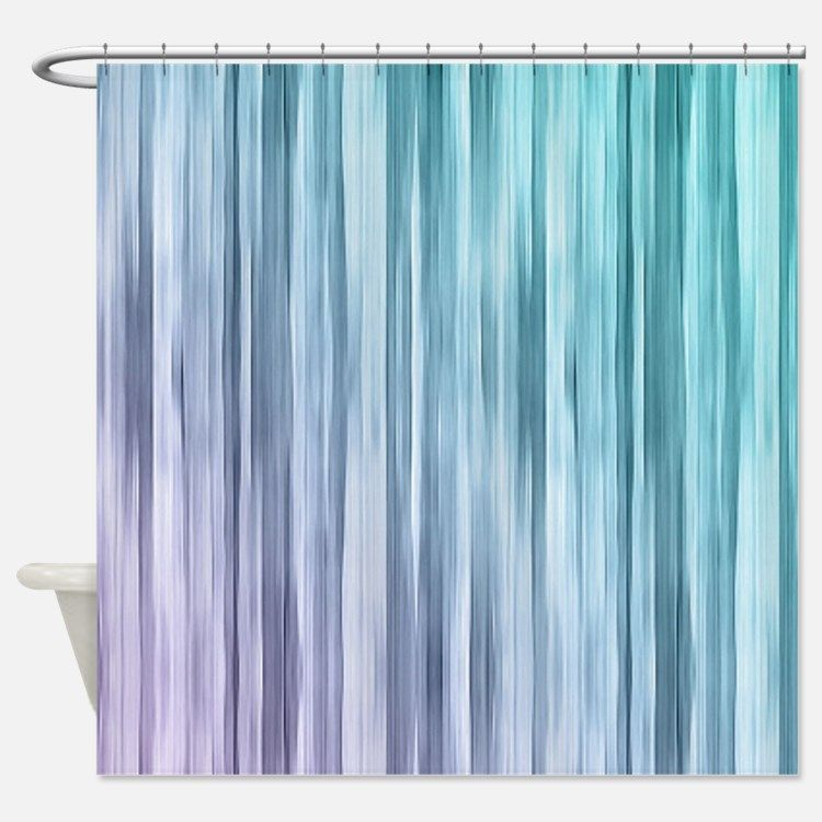 Lyingcat Mug Purple Shower Curtain Teal Shower Curtains