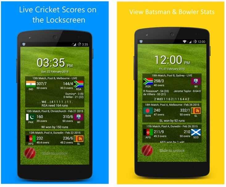 Get live cricket scores on the lockscreen of your