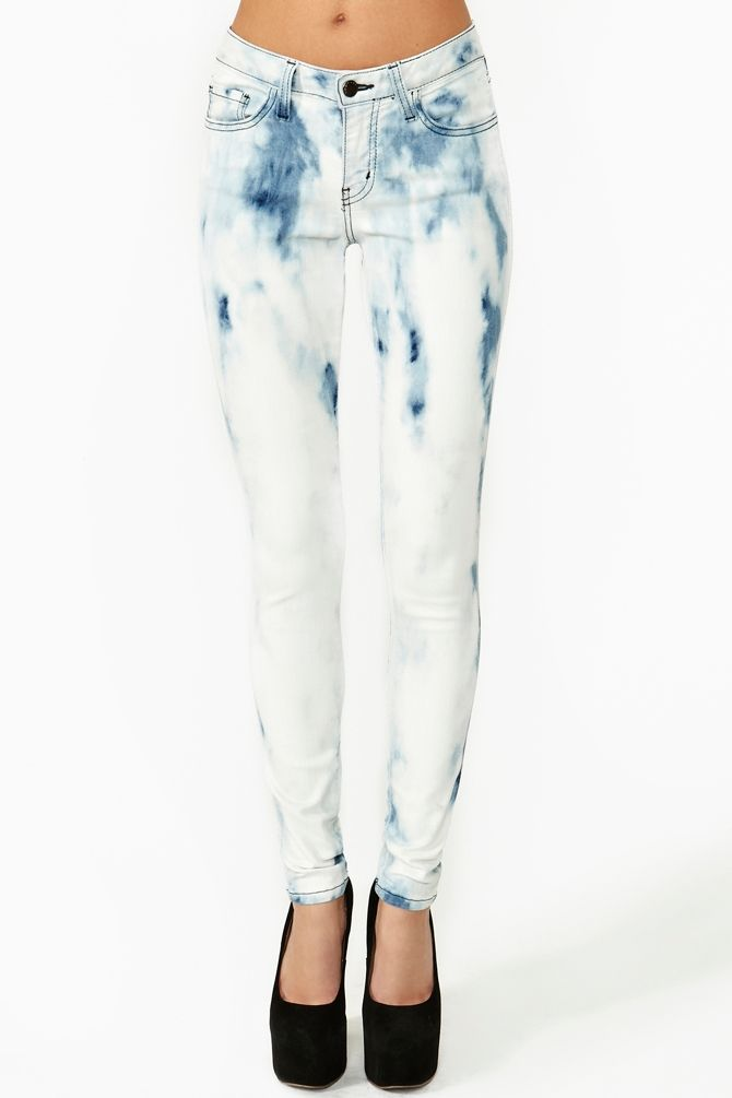 Bleached Skinny Jeans - Xtellar Jeans